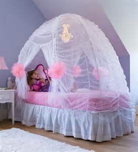 tale bed tent in room decor