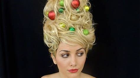 christmas tree hair is the new holiday trend today com