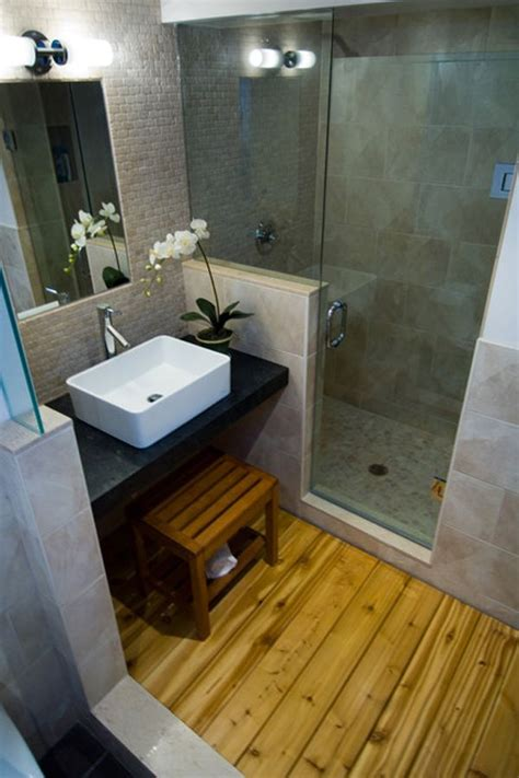Attrayant Salle De Bain Avec Vasque #8: Petite-salle-de-bain-cosy-parquet.jpg