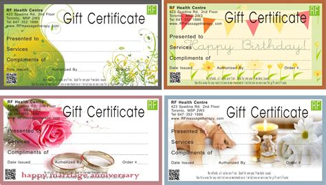 massage gift certificate template printable image