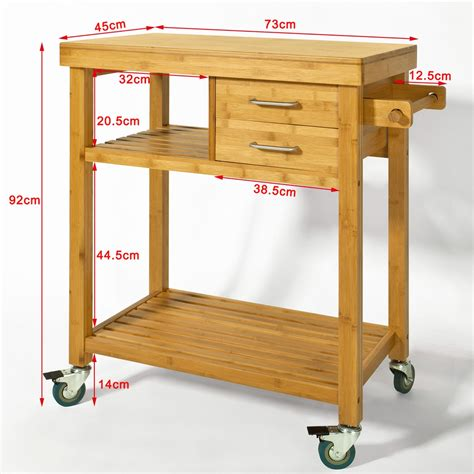 Kitchen Carts With Drawers by Sobuy 174 Kitchen Trolley With Shelves Drawers Kitchen