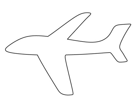 Airplane Template by Printable Airplane Template