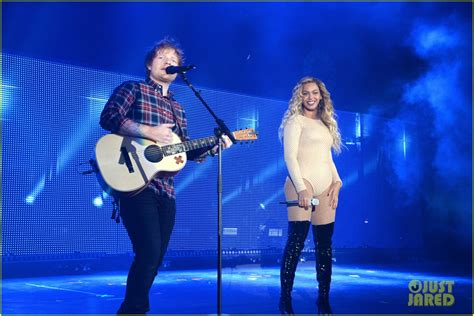 ed sheeran beyonce beyonce takes the stage with ed sheeran at global citizen