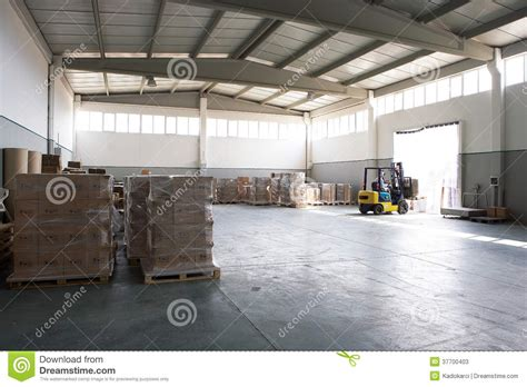 Warehouse Forklift Operator by Forklift In Warehouse Stock Photos Image 37700403
