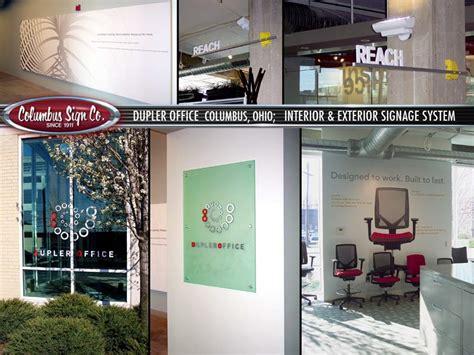 Interior Supply Columbus Ohio by Dupler Office Signage