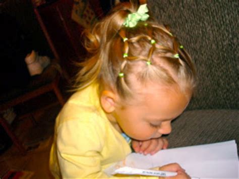 rubber band hairstyles toddler hairstyles neon green rubber bands