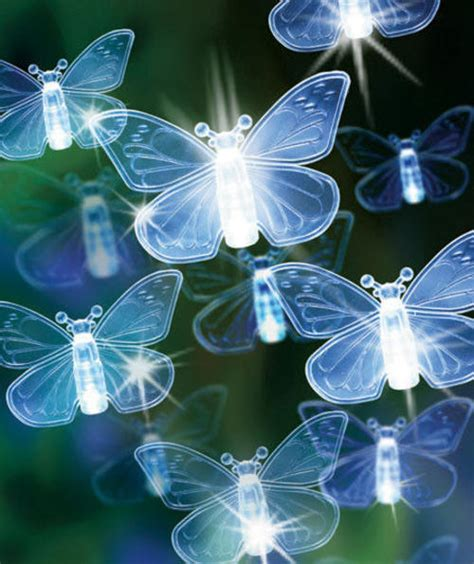 Butterfly Solar Lights Outdoor Other Outdoor Lighting 80 Led Butterfly Or Solar Powered String Lights Yard Garden