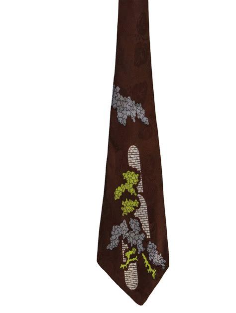 swing tie 1940 s retro neck tie late 40s no label mens dark brown