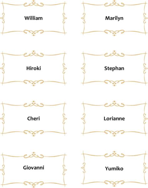 garton place card template place card template for free formtemplate