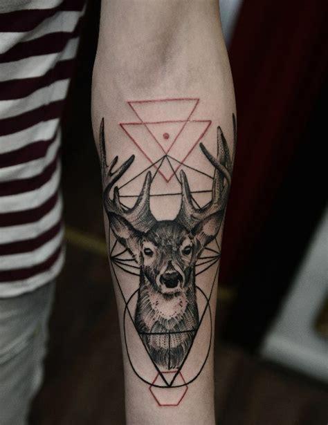 geometric tattoo znaczenie deer tattoo by timur lisenko