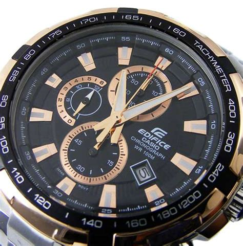 Edifice Ef 539 Rosegold Combi s watches casio edifice tachymeter ip gold 100m