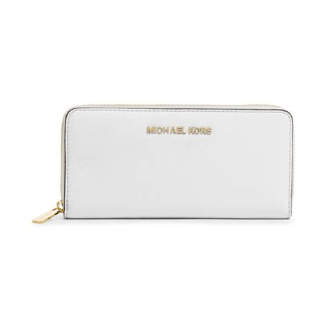 Michael Kors Bedford Optic White michael kors bedford continental wallet in white lyst