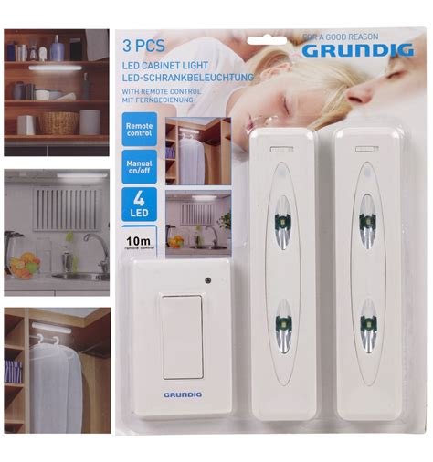 cabinet lighting switch grundig 3pc led cabinet light with switch 159294
