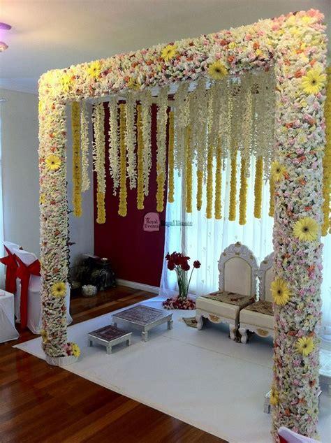 pin  garapati anusha  wedding mandap decor indian