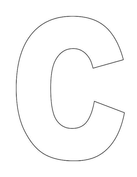 template printable 6 best images of letter c template printable printable