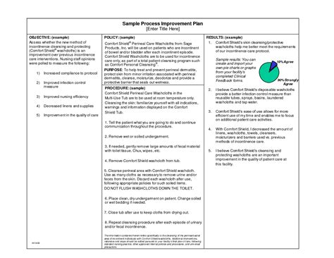 process improvement plan template process improvement plan template plan template