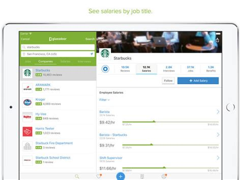 glassdoor job search jobs salaries reviews screenshot