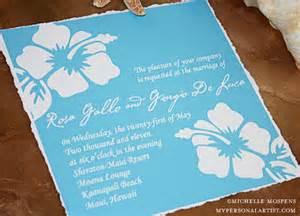 hawaiian wedding invitation ideas hawaiian wedding invitation vertabox