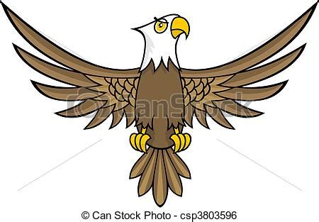 Clip Art Vecteur de aigle, dessin animé - rigolote ...