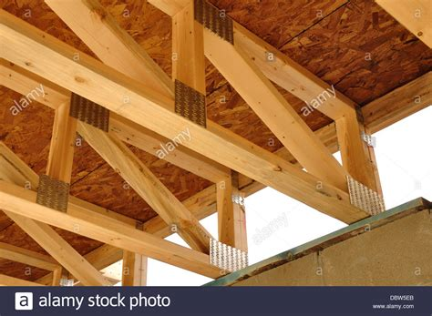 Floor Ceiling Joists Trusses In A New House Under House Floor Joists Construction