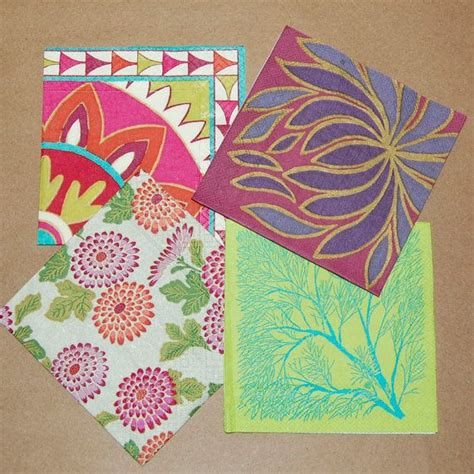 Craft Ideas With Paper Napkins - decoupage crimson and green set 4 paper napkins for