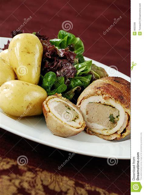 imagenes libres pollo comida del ballotine del pollo fotos de archivo libres de