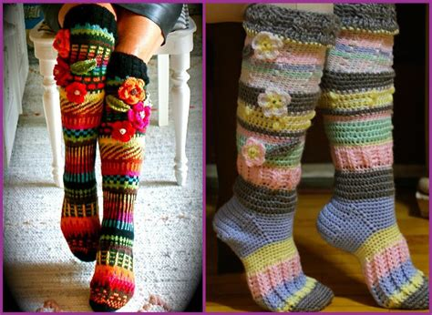free crochet patterns for knee high socks squareone for