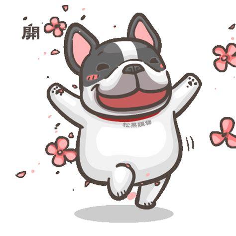 line stickers pcone × france bulldog han ji: pop ups free