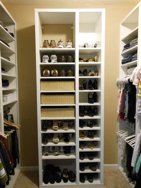 storage closet organizers will help to forget about mess glittering shoe rack for closet how to build