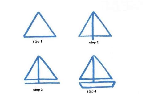 easy way to draw a boat how to draw how to draw a sailing boat hellokids