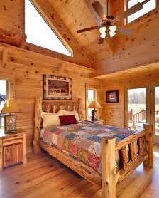 Log Cabin Bedroom Decorating Ideas Jocassee V Master Bedroom By Blue Ridge Log Cabins