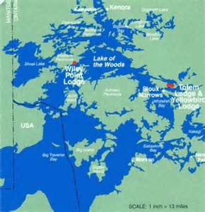 lake of the woods ontario canada maps