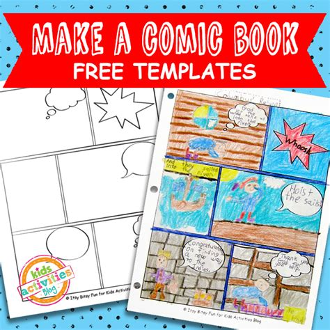 Comic Book Templates Free Kids Printable Printable Comic Book Template