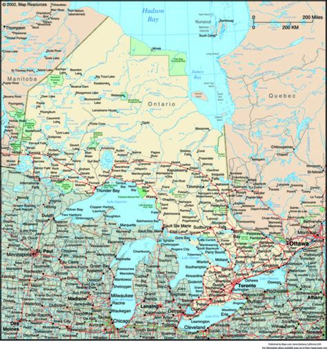Search Ontario Canada Road Map Of Ontario Canada Images