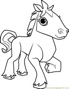 Horse Animal Jam Coloring Page  Free Pages sketch template
