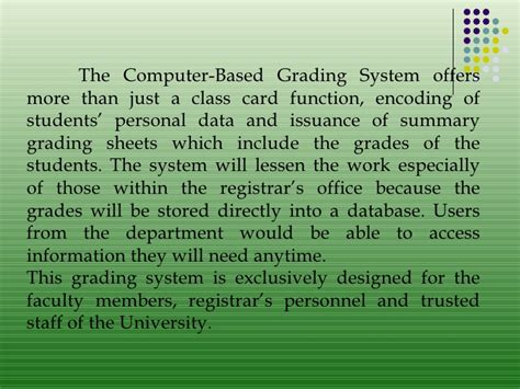 thesis abstract for grading system exle grading system thesis