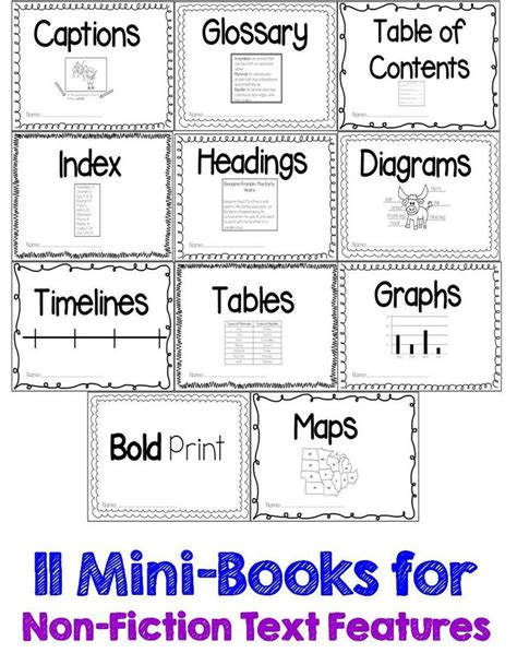 Nonfiction Text Features Worksheet by Guided Reading Gurus Nonfiction Text Features Printable