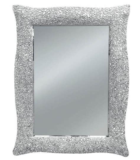 cornici a specchio specchio con cornice ondulata argento effetto mosaico
