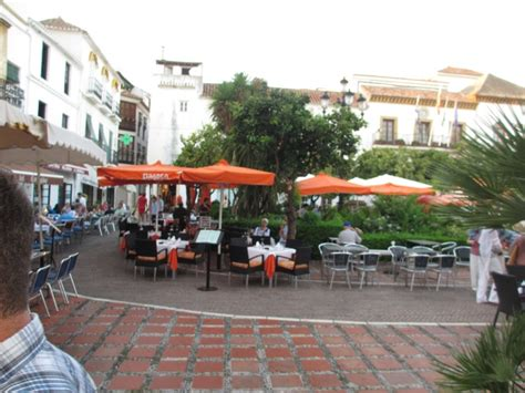 Marbela Square orange square town marbella spain places i been and loved