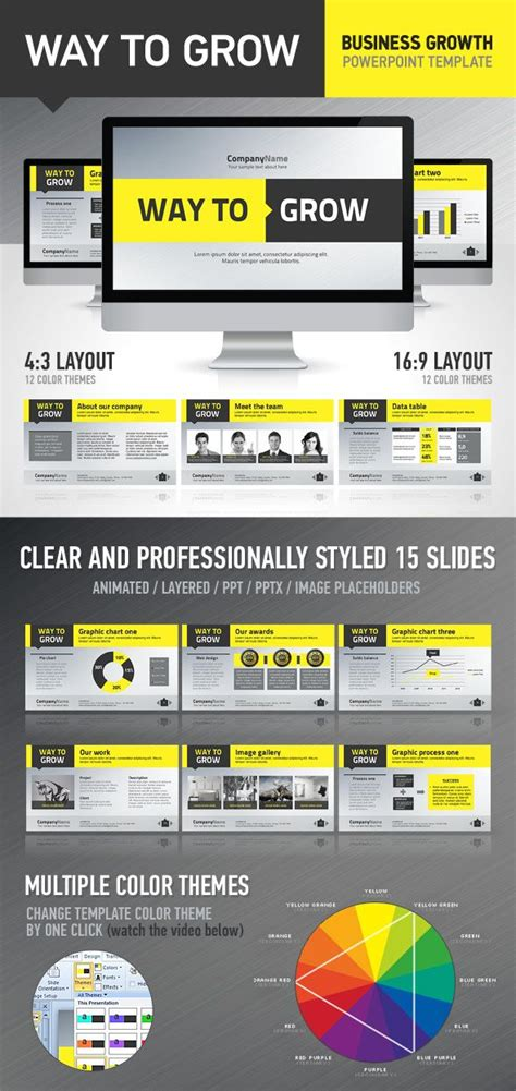 powerpoint template by design district via behance 12 best powerpoint inspiration images on pinterest