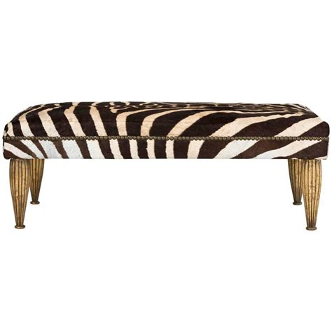 zebra bench zebra bench with gold leaf for sale at 1stdibs