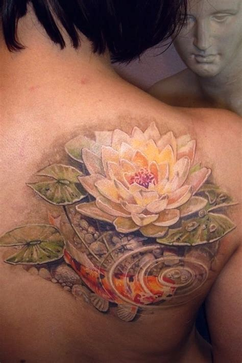 koi flower tattoo designs 155 lotus flower designs