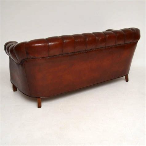 leather chesterfield sofa for sale antique swedish leather chesterfield sofa for sale at 1stdibs