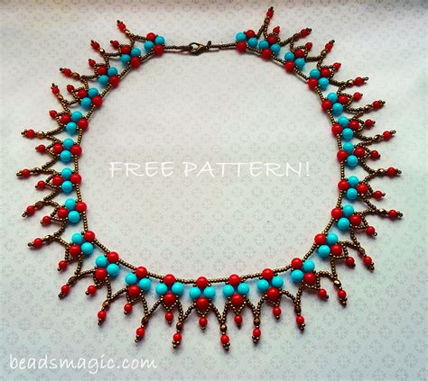 beading projects necklace pattern magic part 2