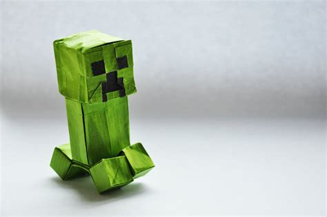 Minecraft Origami - this week in origami july 24 2015 edition