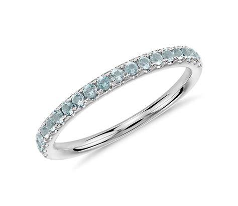 riviera pav 233 aquamarine ring in 14k white gold 1 5mm
