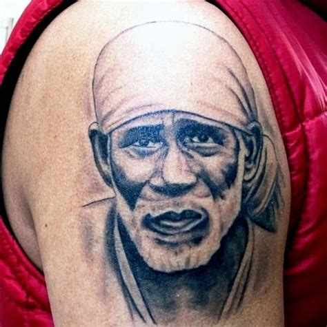 god face tattoo 45 most attractive sai baba portrait tattoos ideas