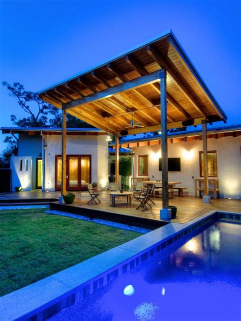 slanted pergola home design ideas pictures remodel  decor