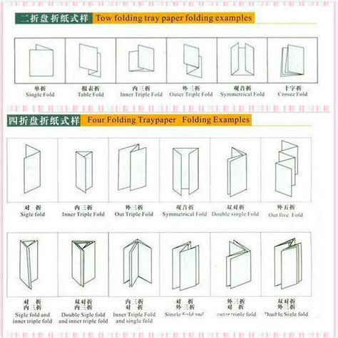 Types Of Paper Folds - jt ze 8b 4 high quality automatic a3 paper folding