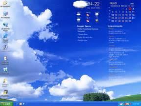 Desktop calendar screenshot transparent style